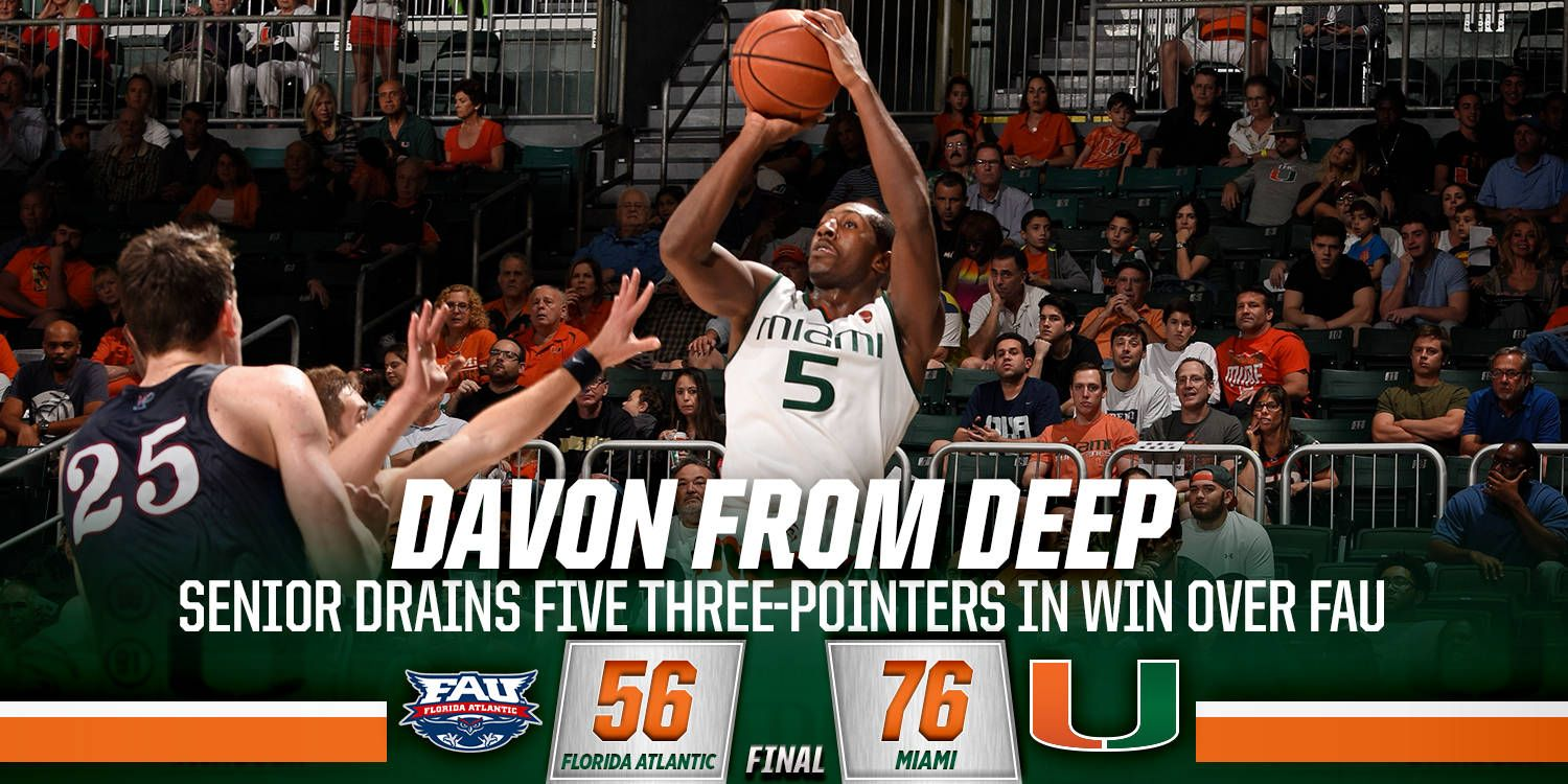 Davon Reed leads Miami to victory over FAU