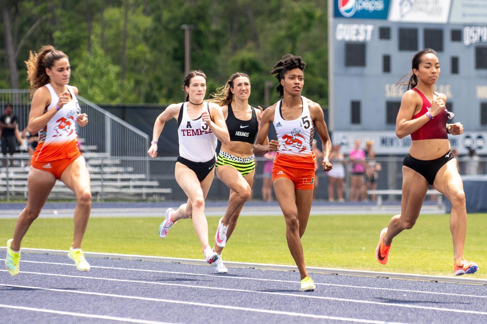 Johnson Breaks Previous 800m Program Record