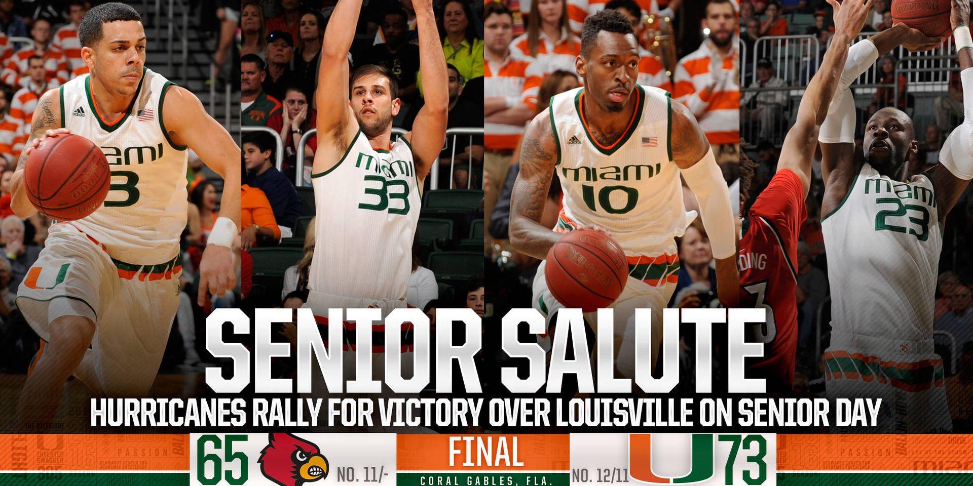 Senior Salute: @CanesHoops Tops Louisville, 73-65
