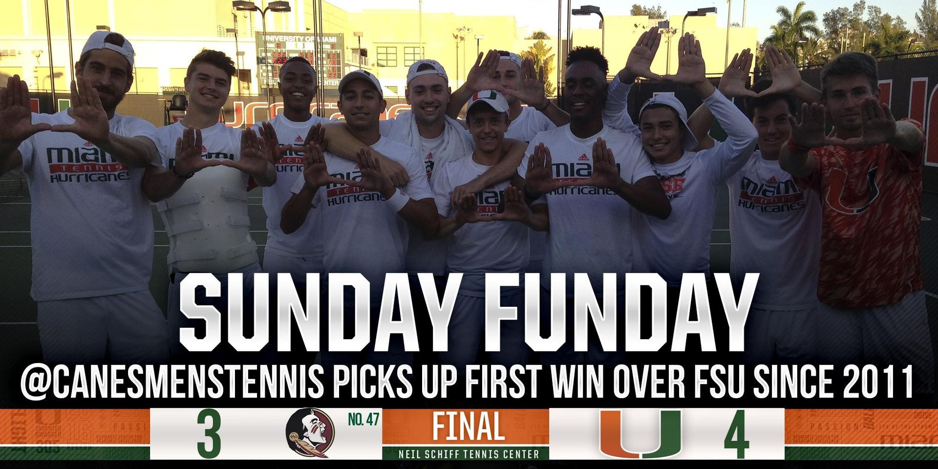 Canes Charge Past No. 47 Florida State, 4-3