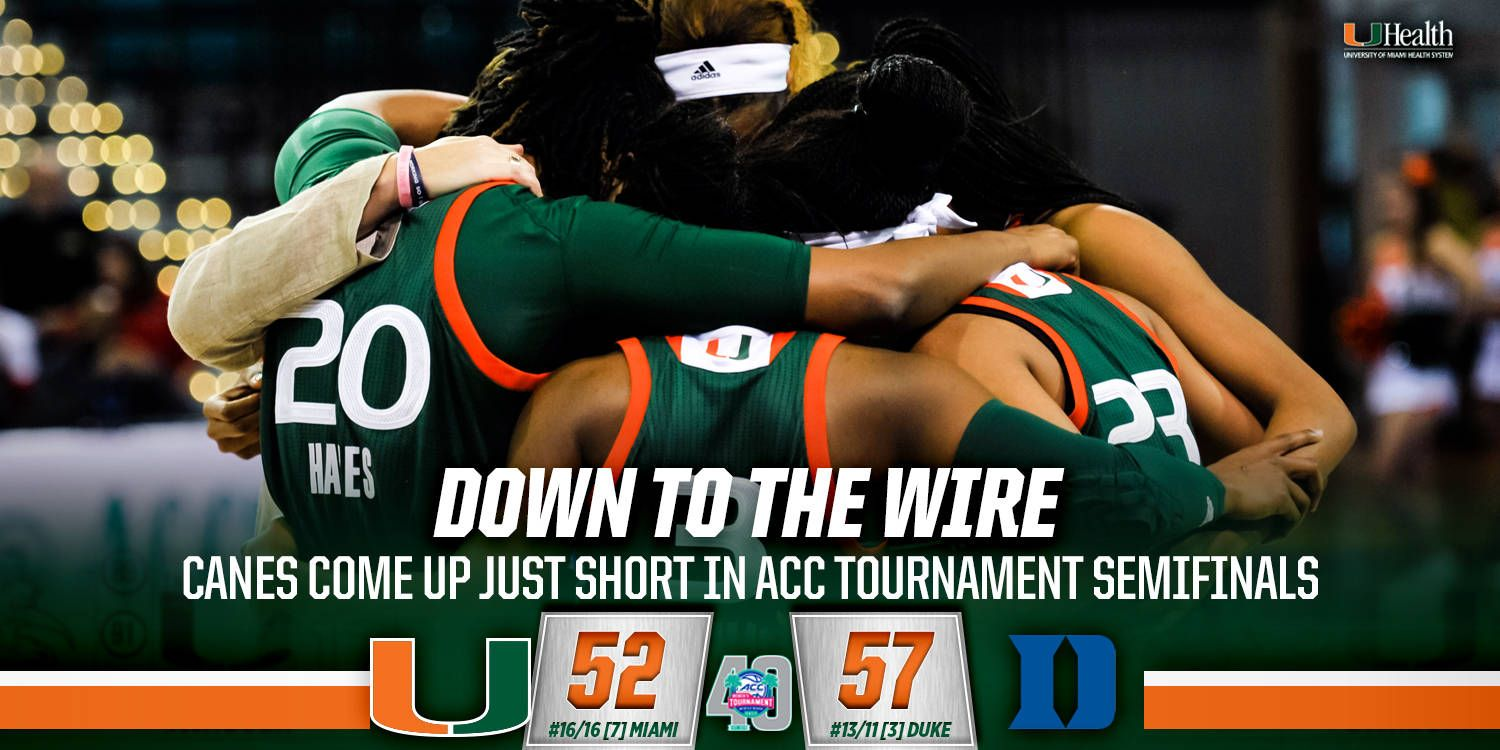 @CanesWBB Edged in ACC Semis by No. 13/11 Duke