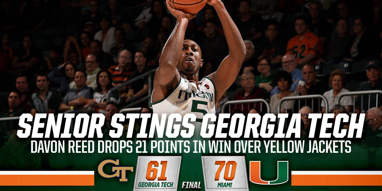 Davon Reed's 21 Points Lead Miami Past GT