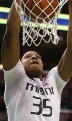 Kadji Records A Double-Double in Loss to NC State