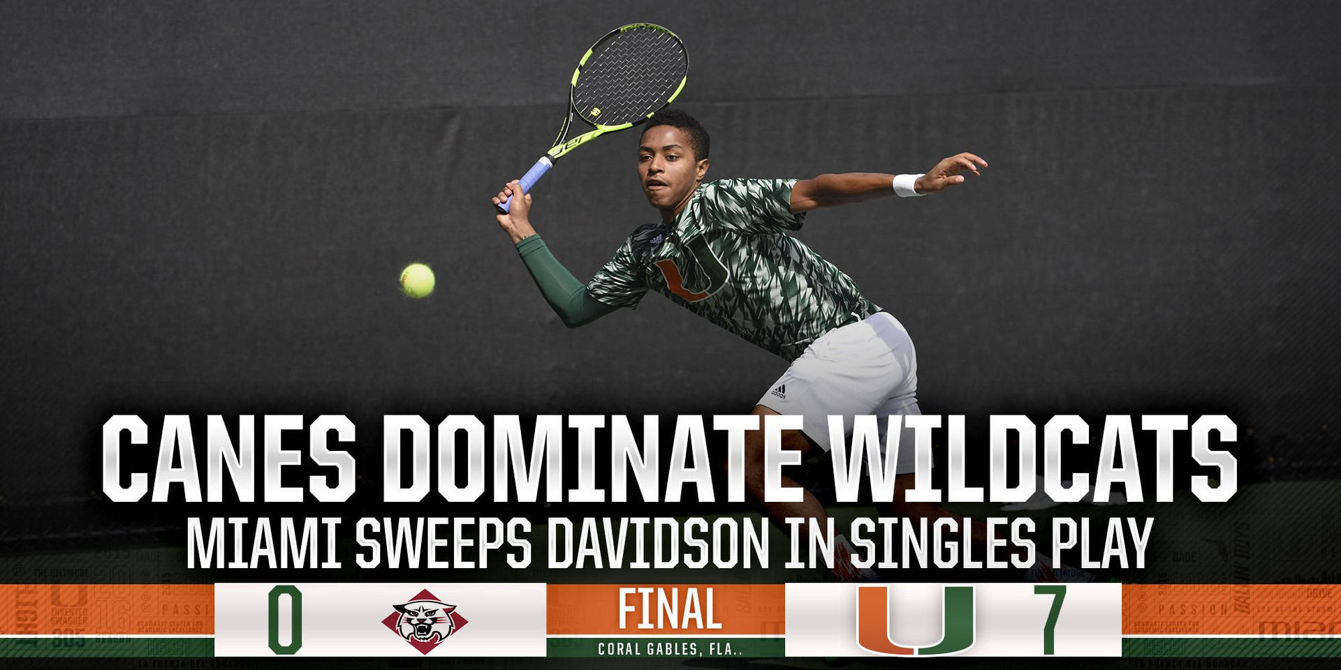 Miami Takes Down Davidson, 7-0