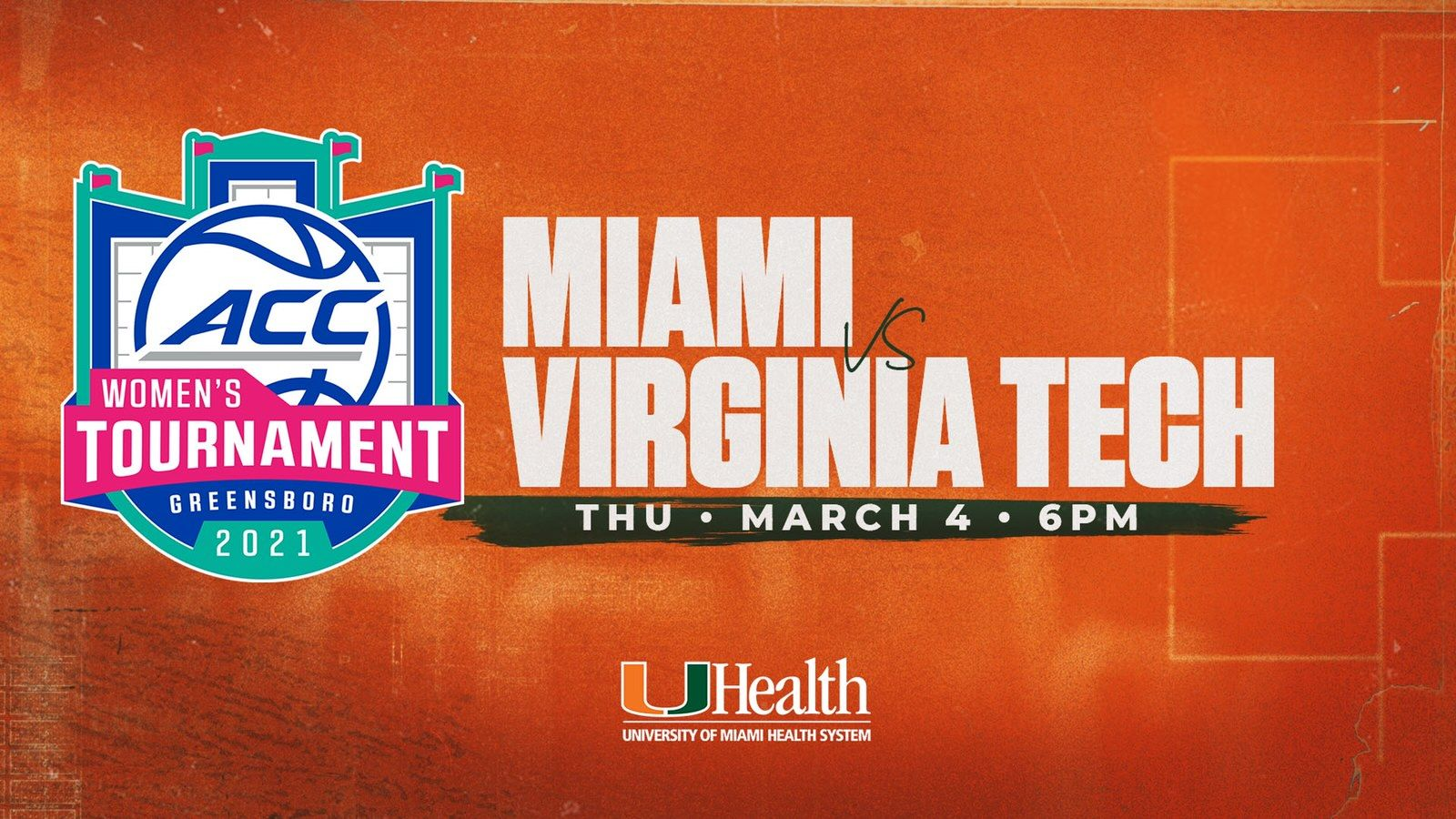 Miami Opens ACC Tournament Against Virginia Tech
