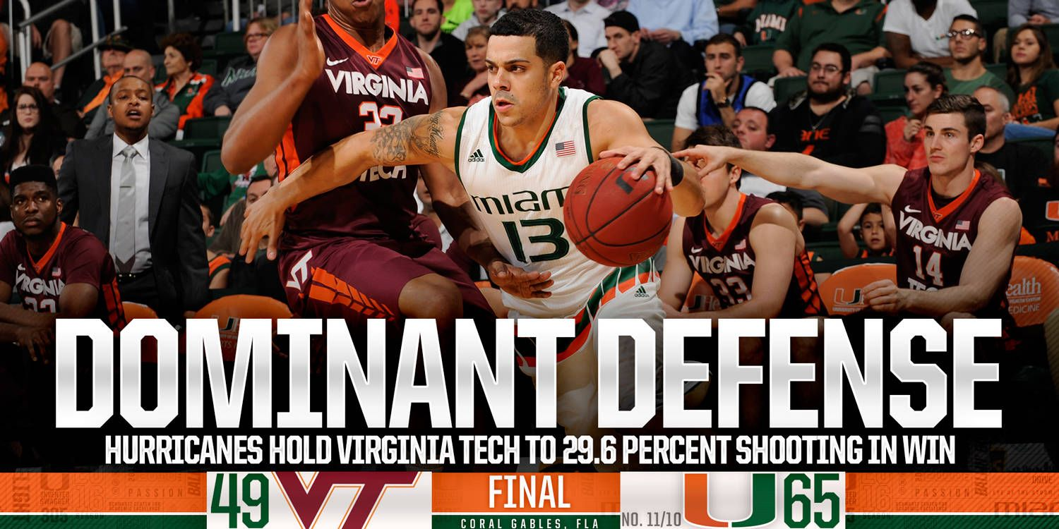 Hurricanes Hold VT to 29.6% Shooting in Win
