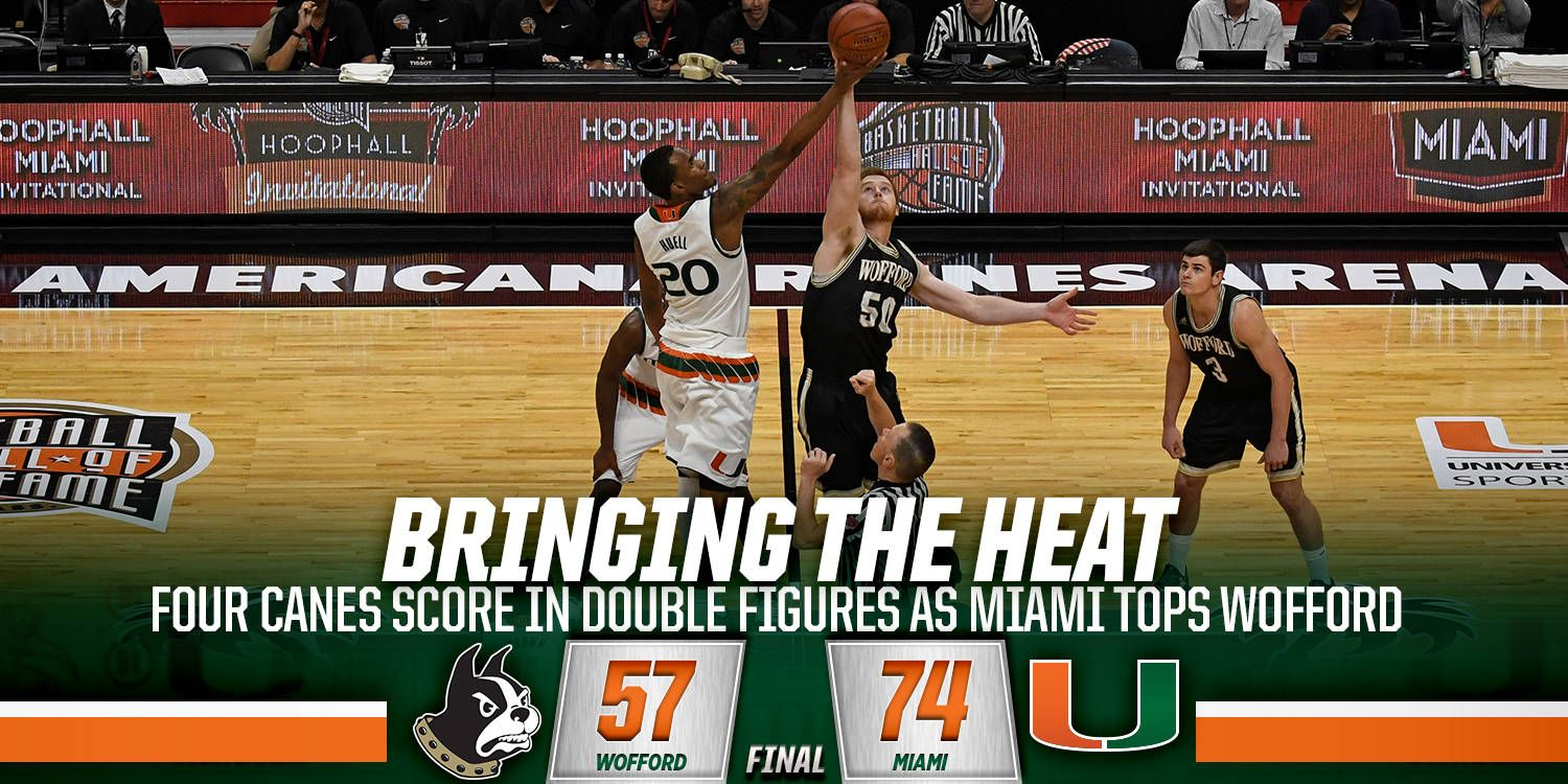 Canes Top Wofford at AmericanAirlines Arena