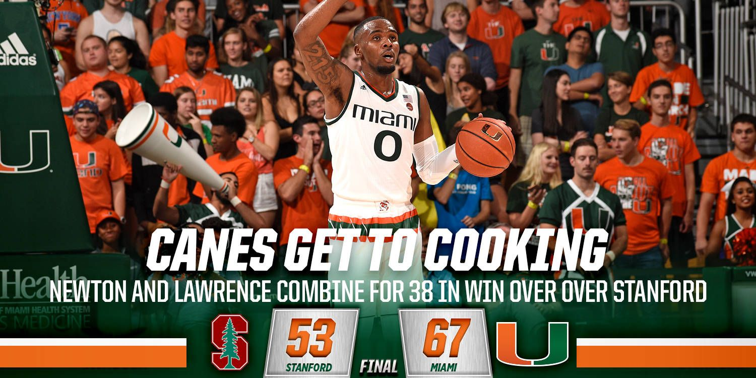 @CanesHoops Downs Stanford, 67-53