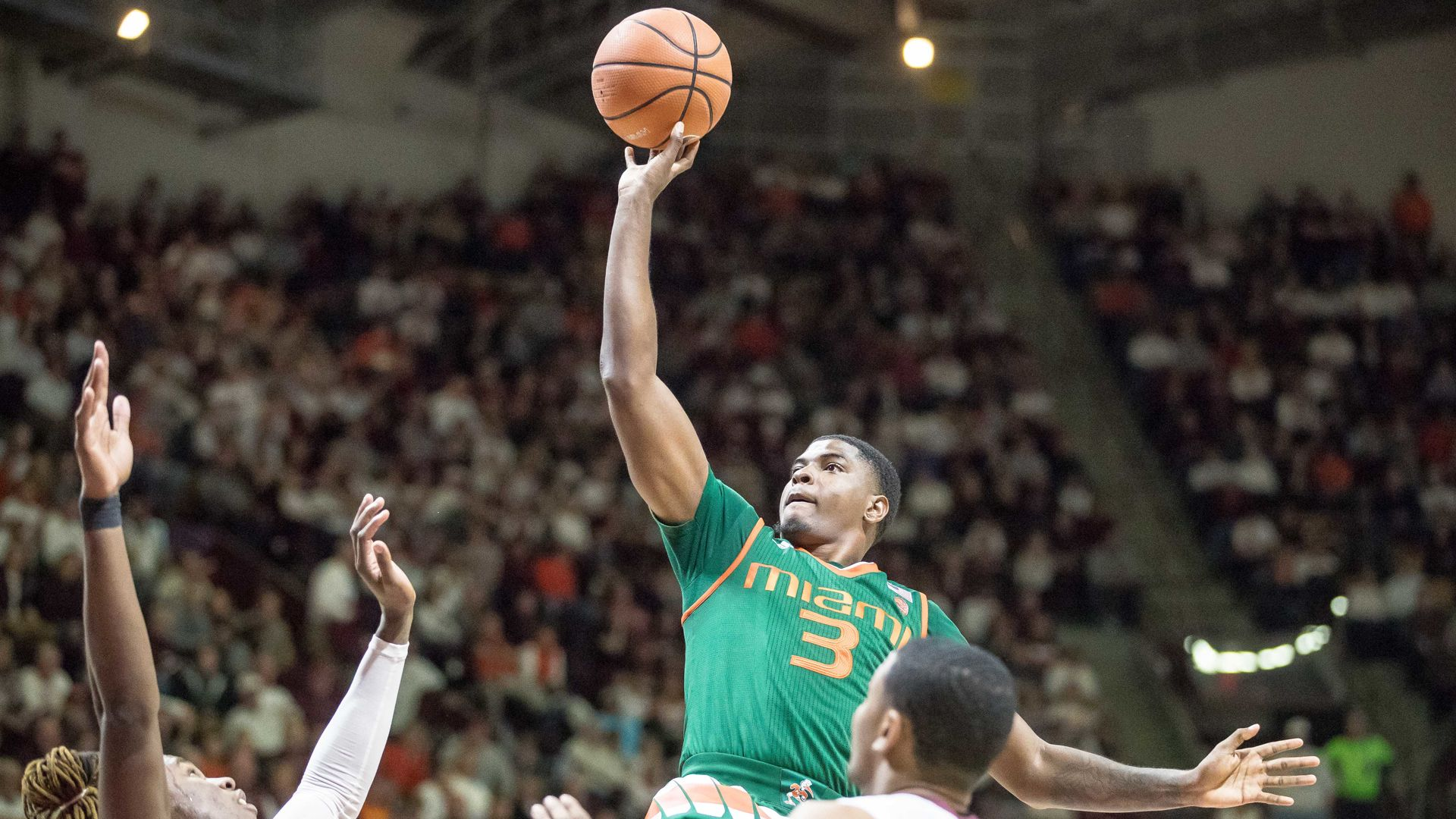 Lawrence's Big Day Leads Miami to 84-75 Win at VT
