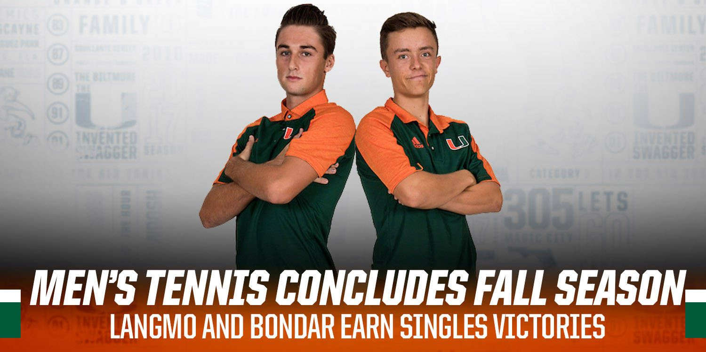 Men's Tennis Concludes Fall Season