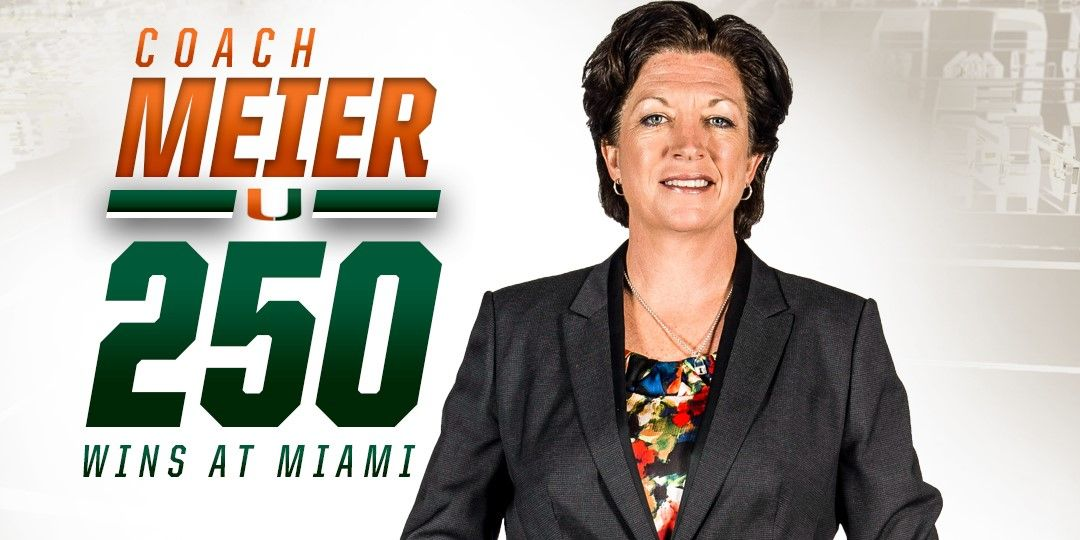 WBB Wins at UVA for Meier's 250th Victory at Miami