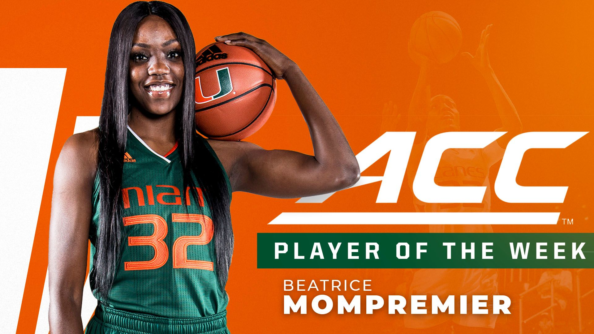 Mompremier Earns Second ACC Player of the Week Honor
