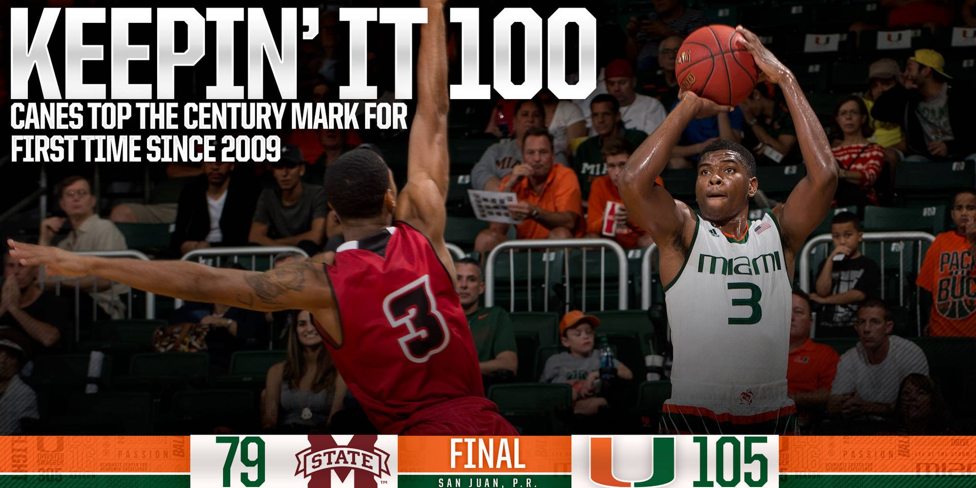 Canes Top 100 Points for First Time Since 2009