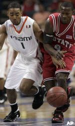 Hurricanes Roll Past Wolfpack, 63-50