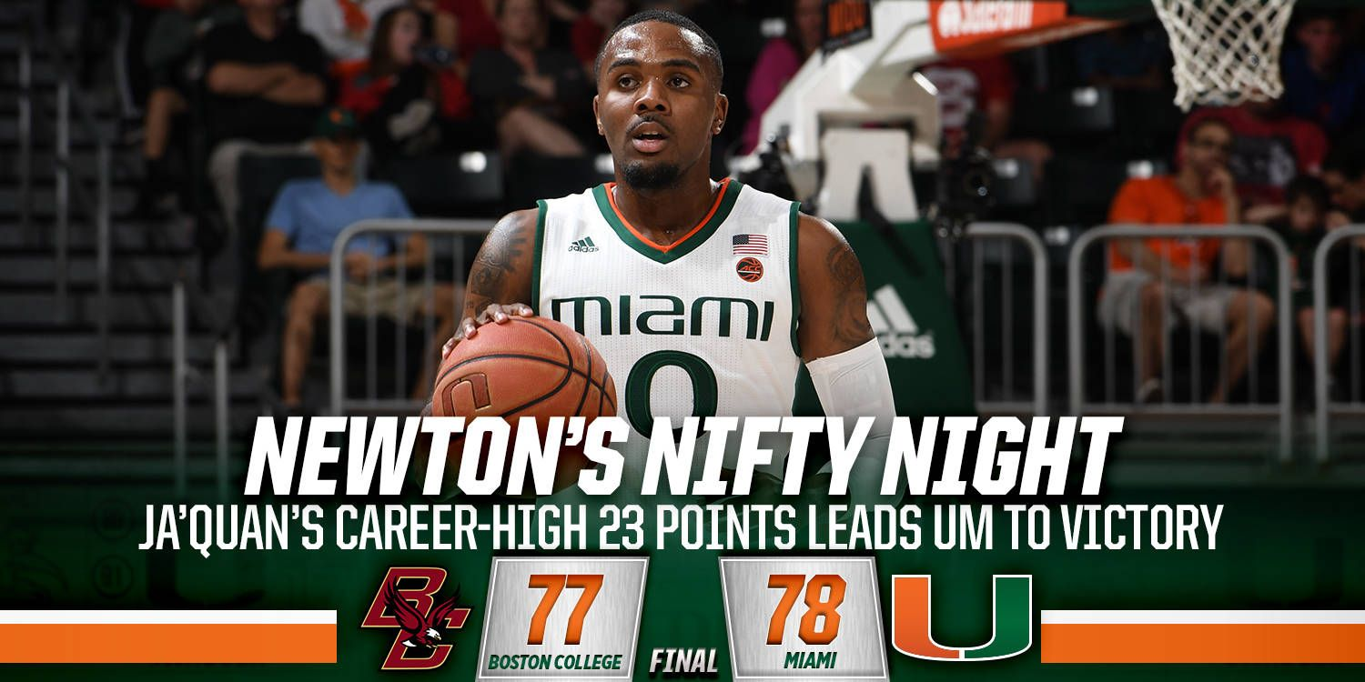 Newton's Career-High 23 Leads UM to Victory