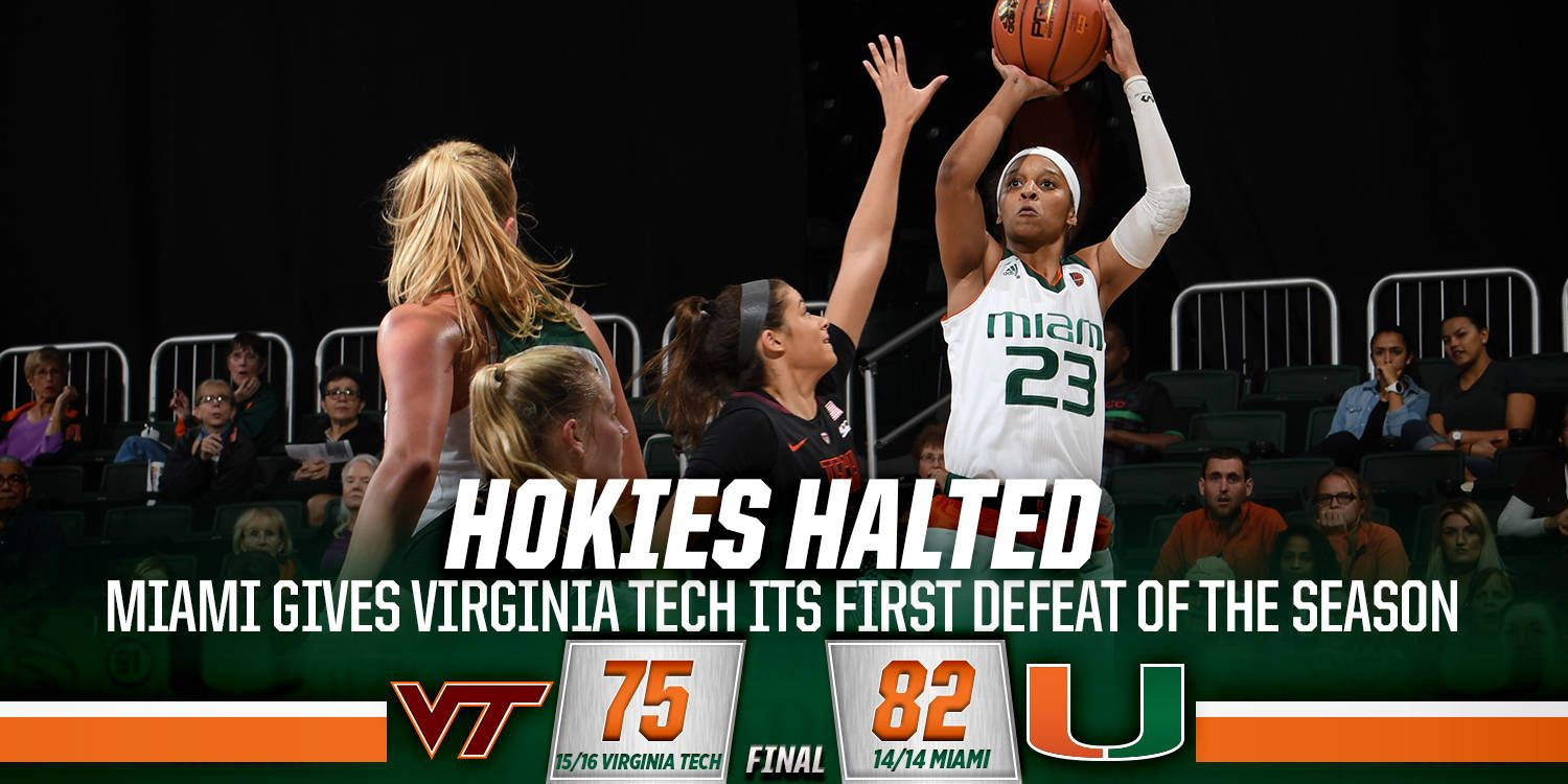 @CanesWBB Hands No. 15/16 Hokies Their First Loss