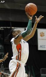 Yderstrom Leads No. 6 Miami Past No. 8 Maryland, 76-74
