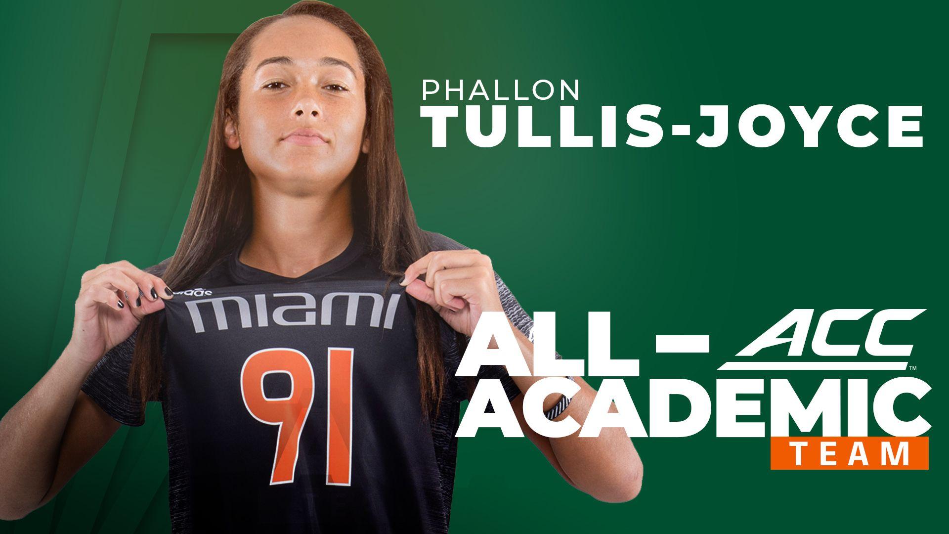 Tullis-Joyce Earns All-ACC Academic Honors