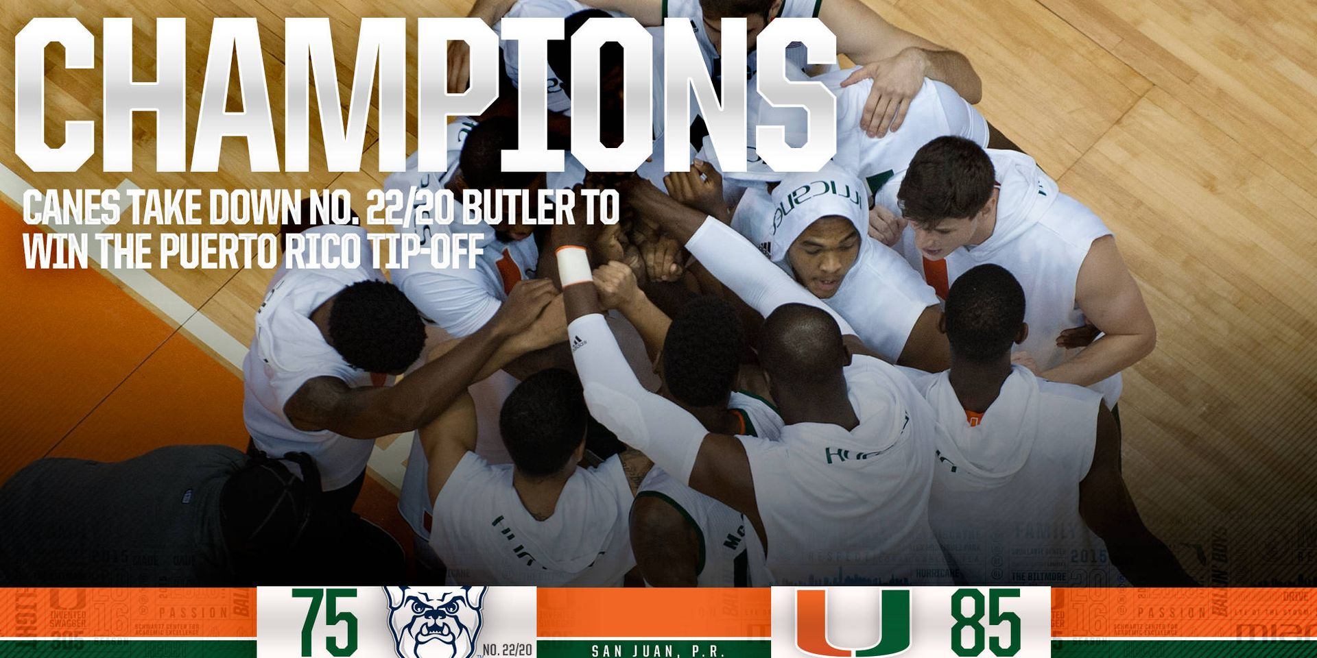 Canes down No. 22/20 Butler in Championship