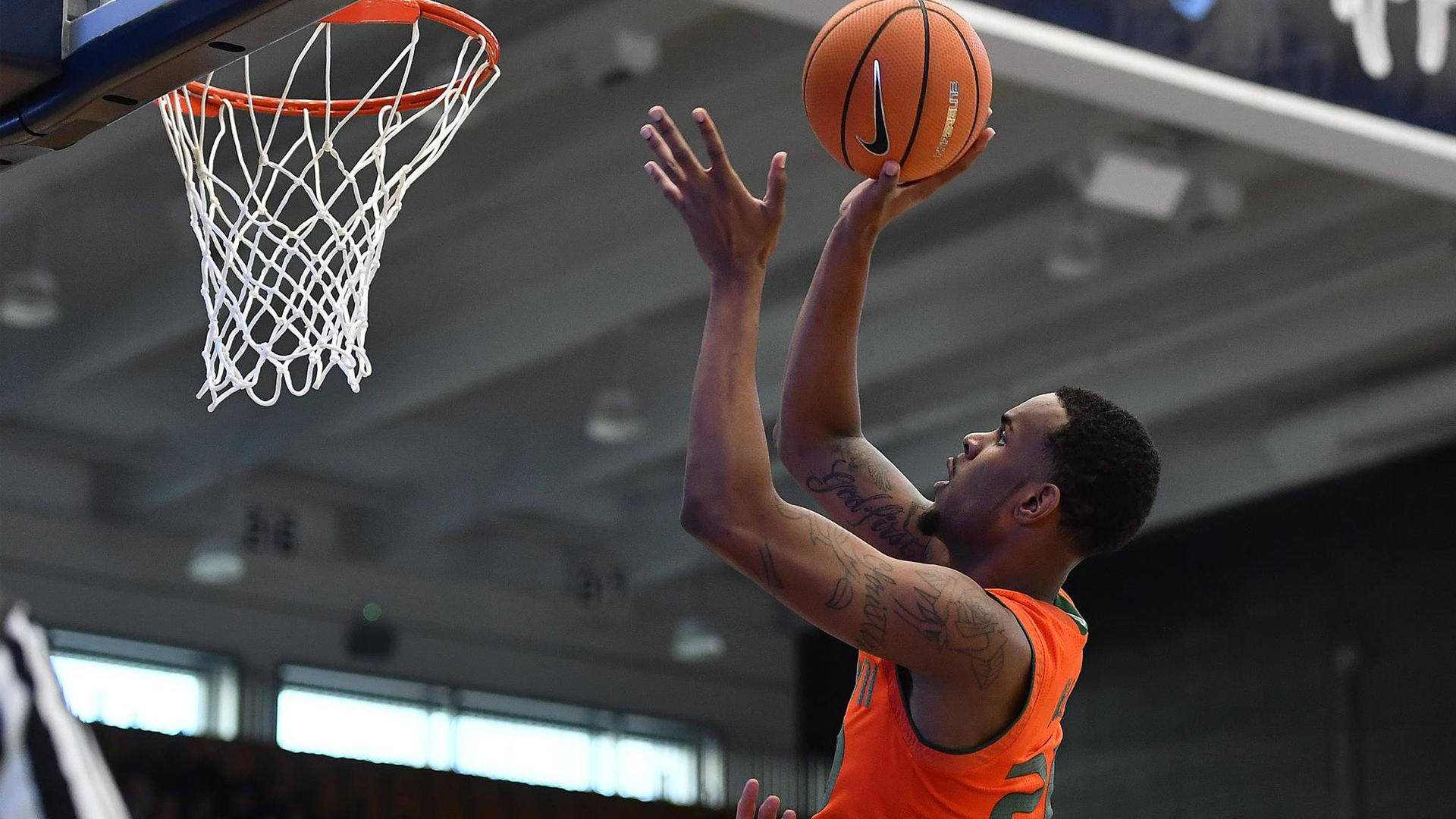 No. 6/8 Canes Stay Undefeated, Beat GW 59-50
