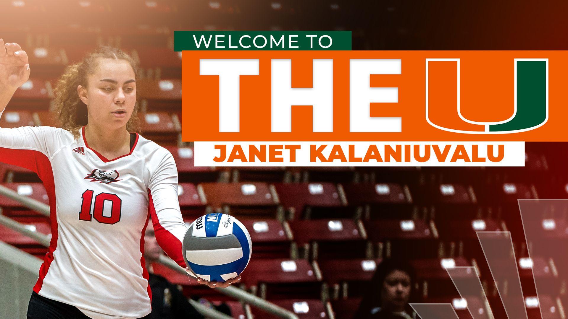 Volleyball Adds Southern Utah Transfer Janet Kalaniuvalu