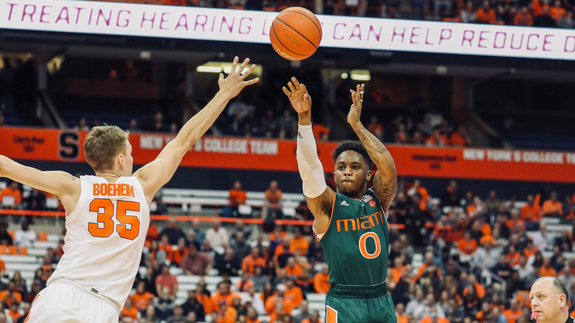 Canes Fall to Syracuse, 73-53