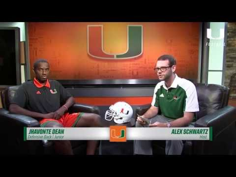 One on One with Jhavonte Dean   Canes Football   8.14.17