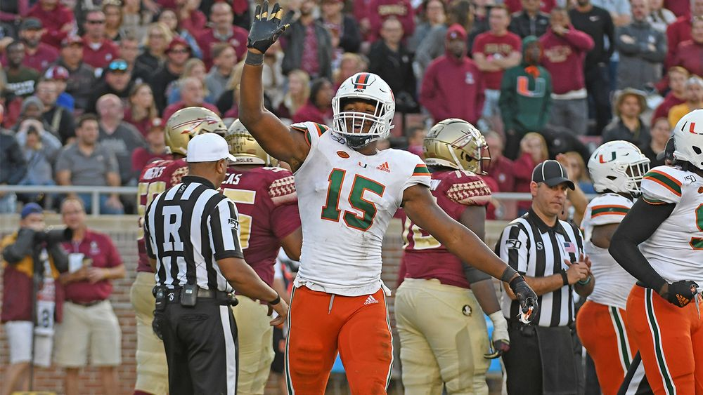 Greg Rousseau celebrates against FSU