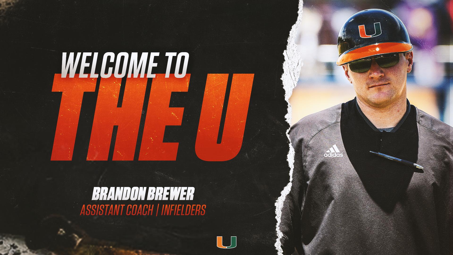 Brandon Brewer Joins Canes Baseball Staff