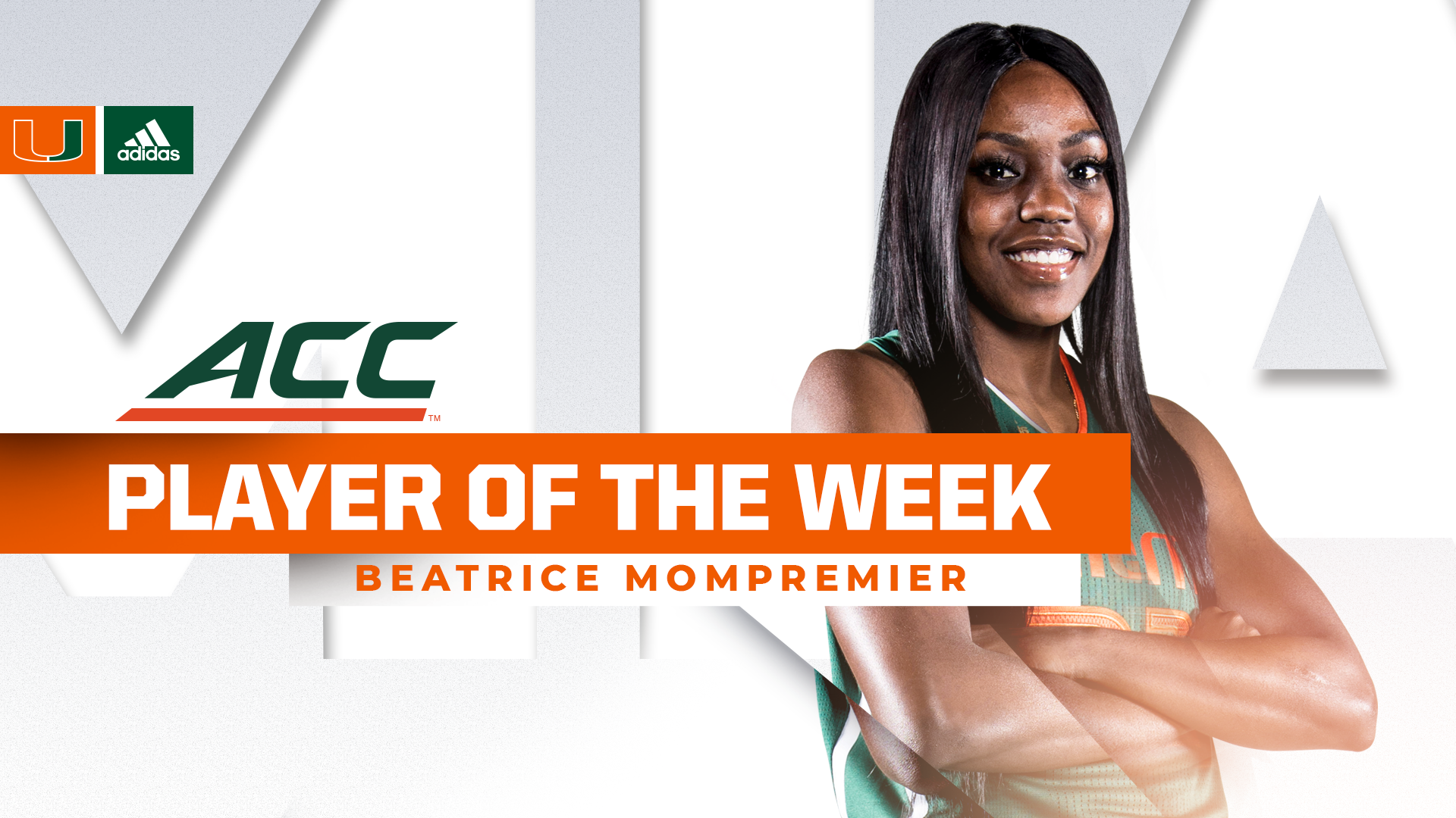 Mompremier Named ACC Player of the Week