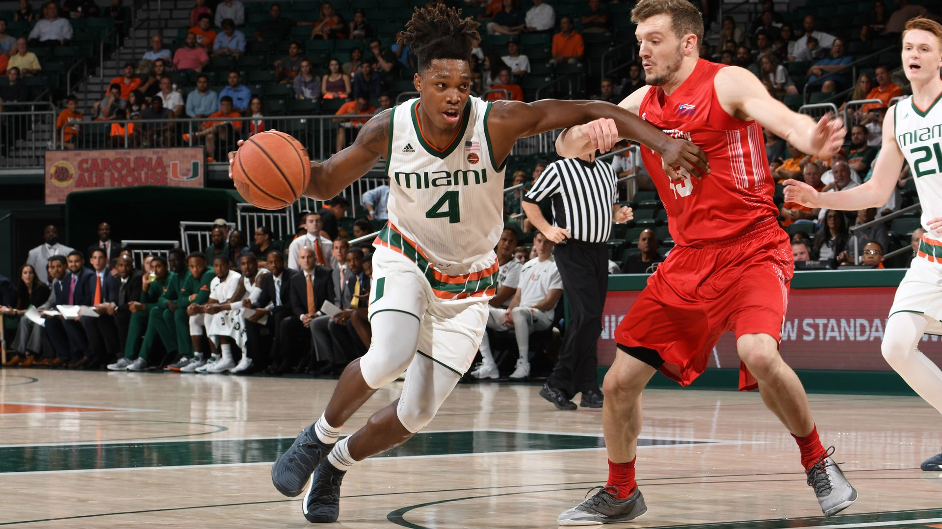 Walker's Career Night Pushes Miami Past BU, 69-54