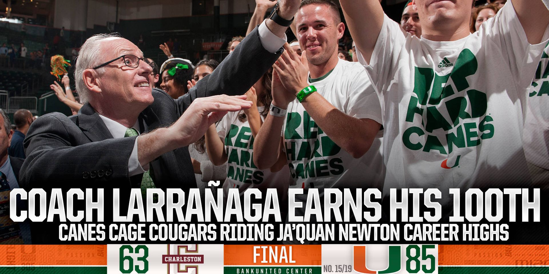 Newton's Career Day Helps Coach L Win #100