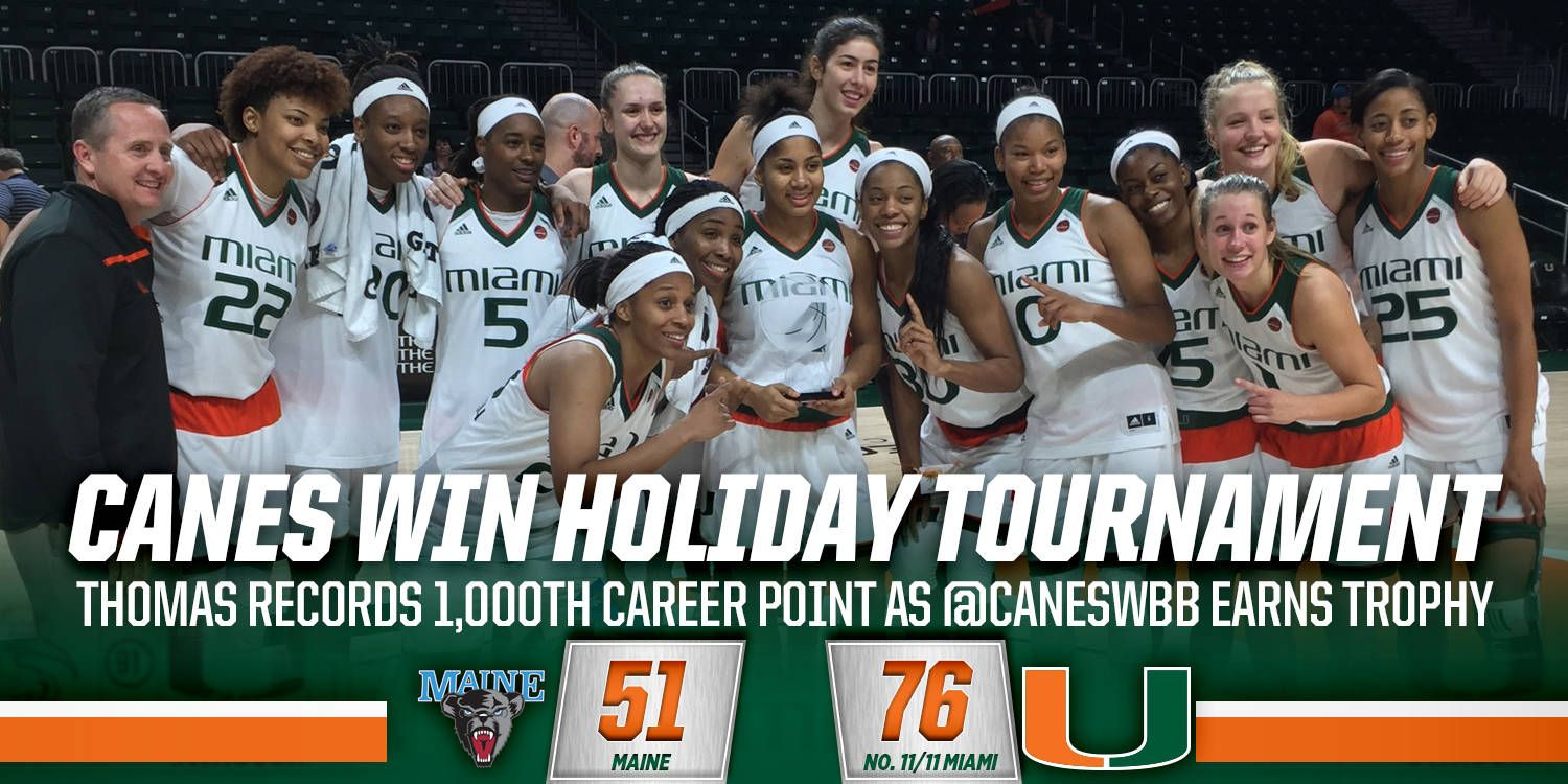 @CanesWBB Beats Maine to Win Holiday Tournament