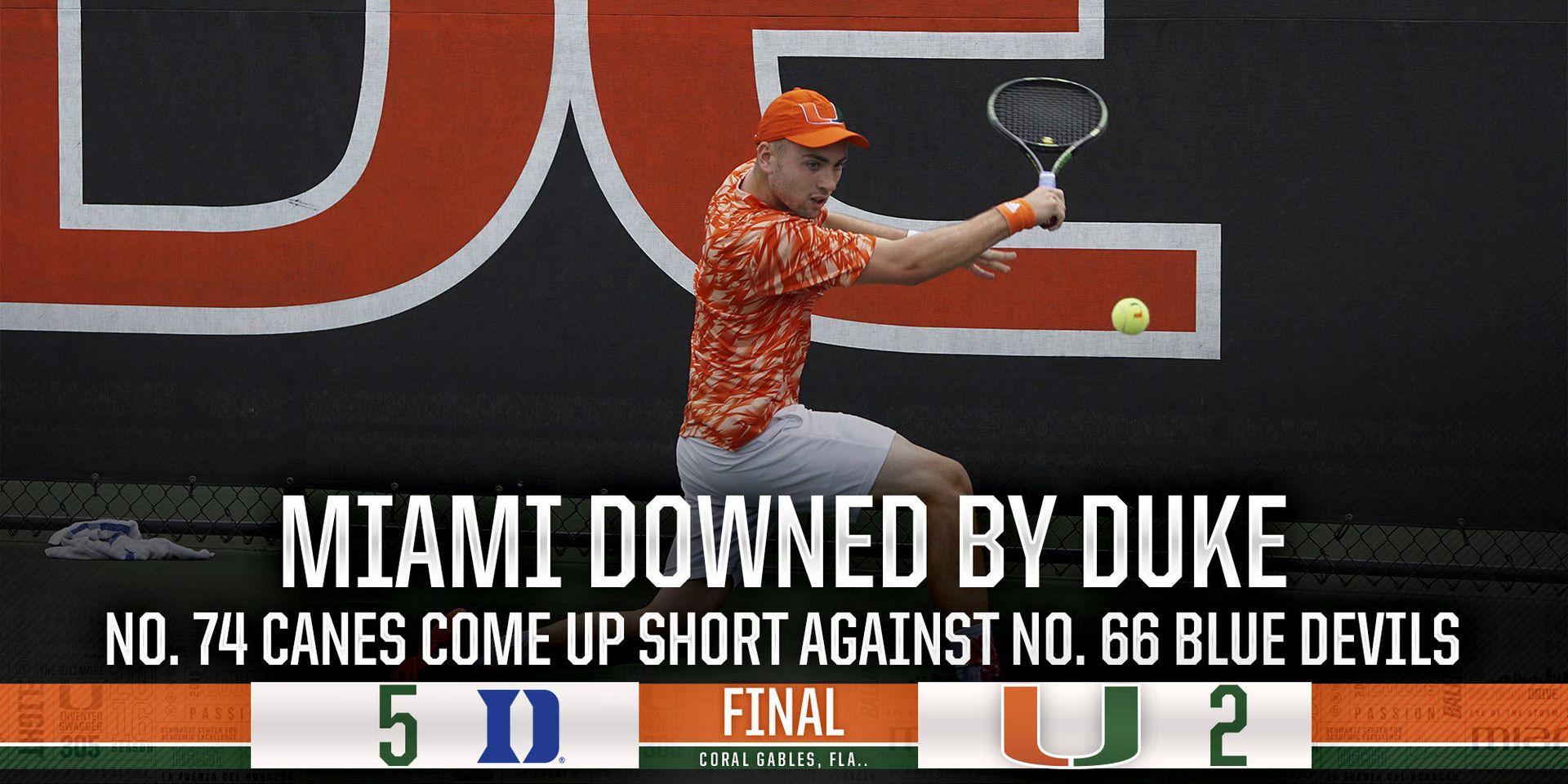 No. 74 Canes Fall to No. 66 Duke