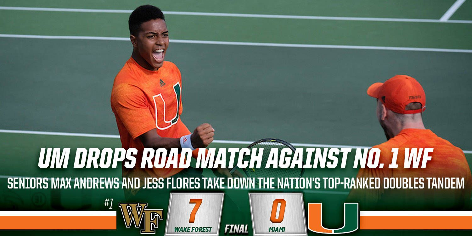 Miami Drops Road Match Against No. 1 Wake Forest