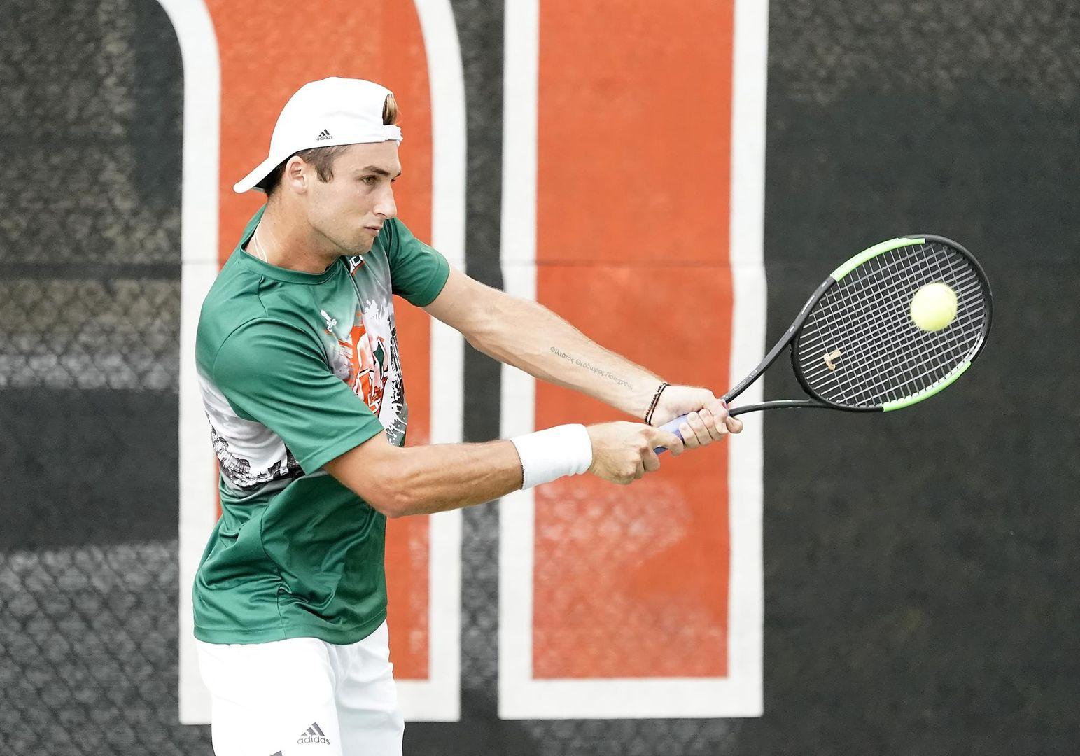 Men's Tennis Downs Iowa 5-2