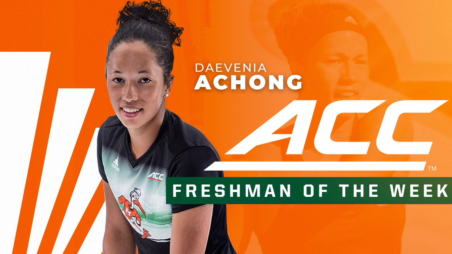 Achong Repeats as ACC Freshman of the Week
