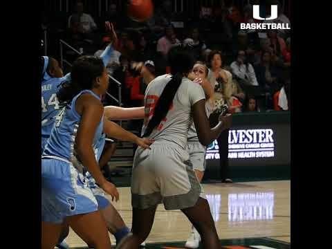 Miami Women's Basketball | vs. UNC Highlight | 1.20.19