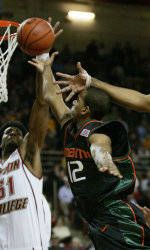 Canes Fall To No. 13 BC On the Road