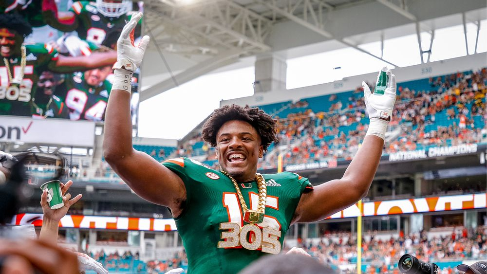 Greg Rousseau Wears The Turnover Chain