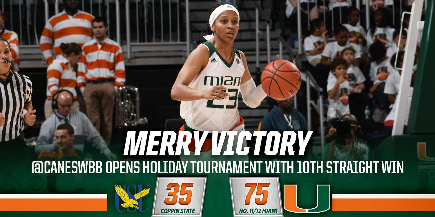 @CanesWBB Dominates Coppin State, 75-35