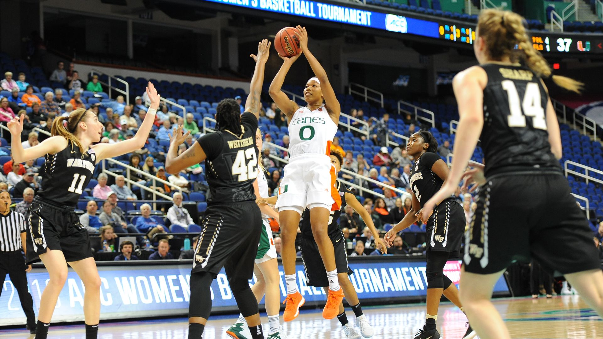 WBB Tops Wake Forest, 68-60, in ACC Tournament Opener