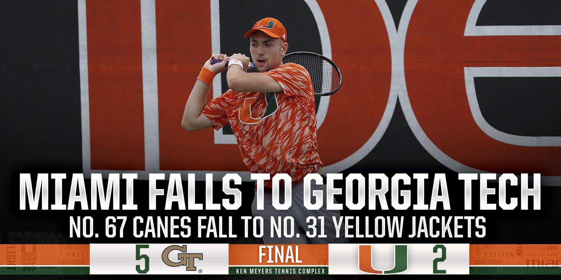 No. 67 Miami falls to No. 31 Georgia Tech
