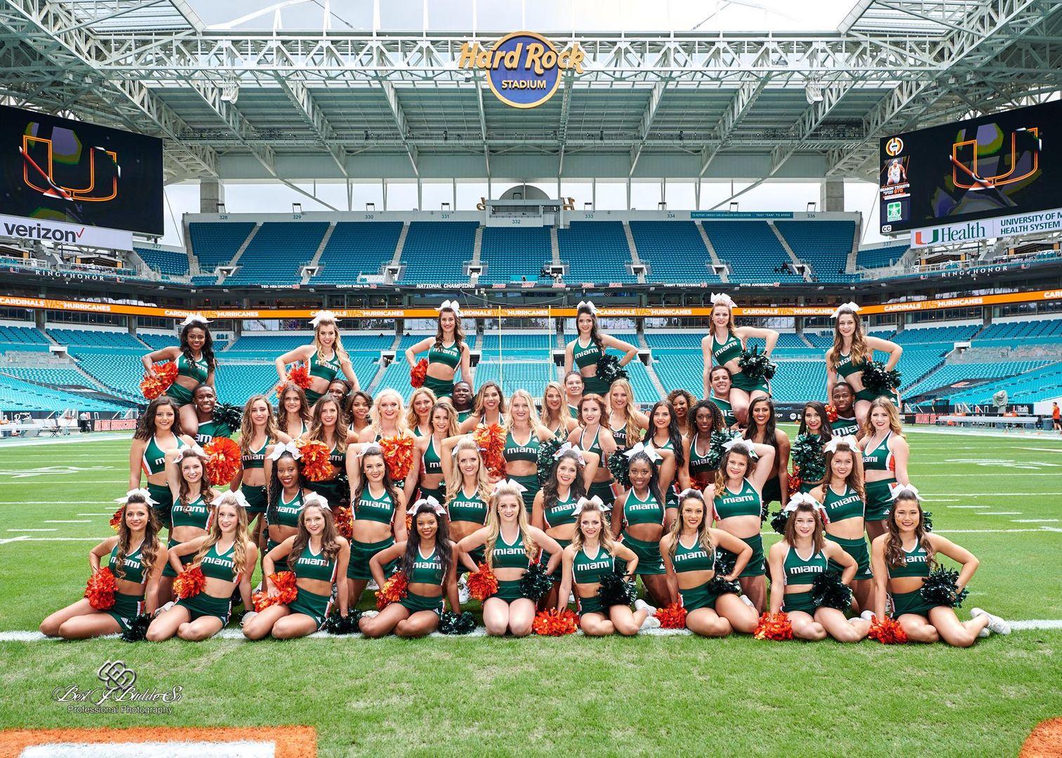 Cheerleaders and Sunsations Dance Team