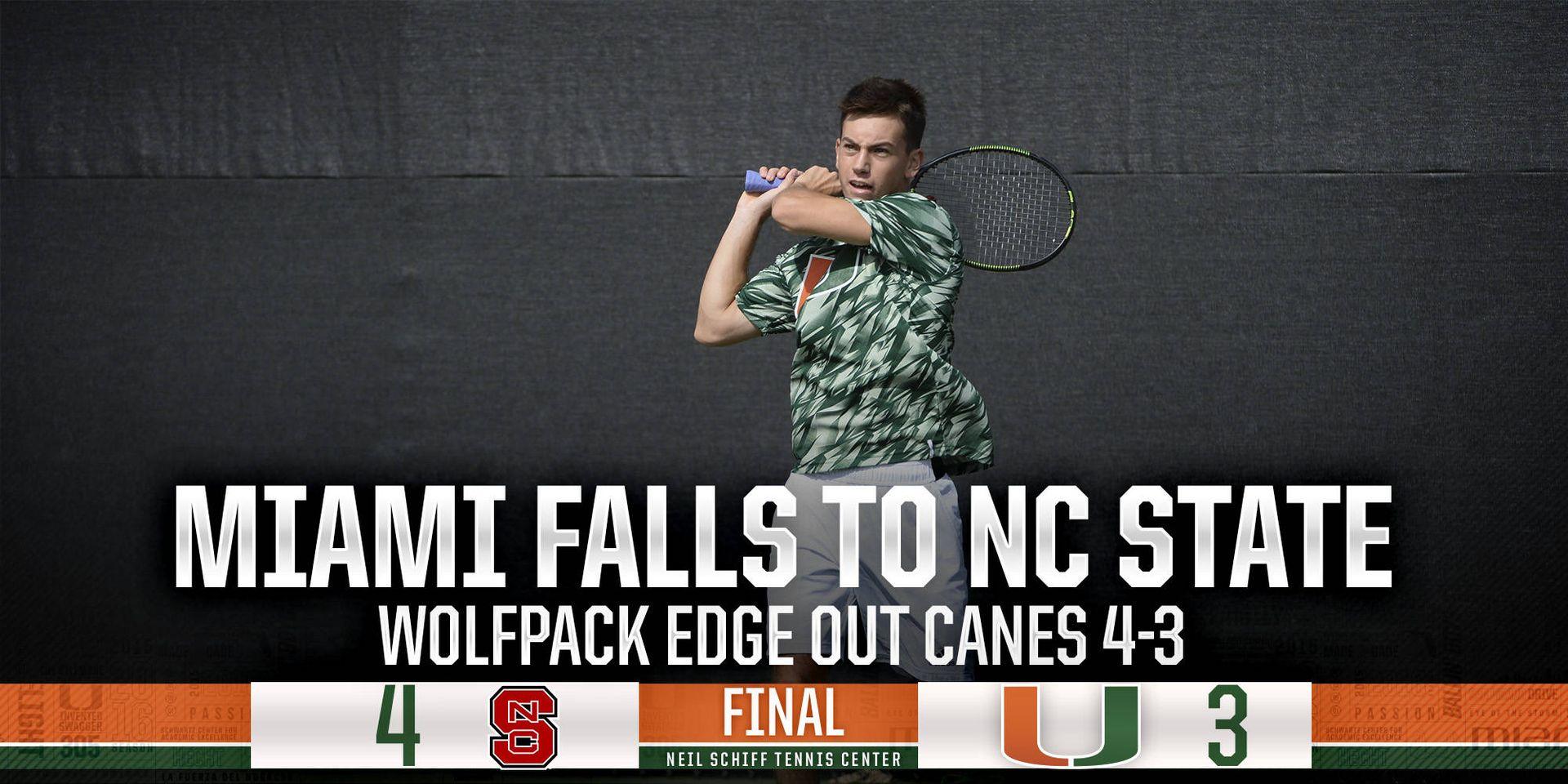 No. 75 Miami falls to No. 41 NC State