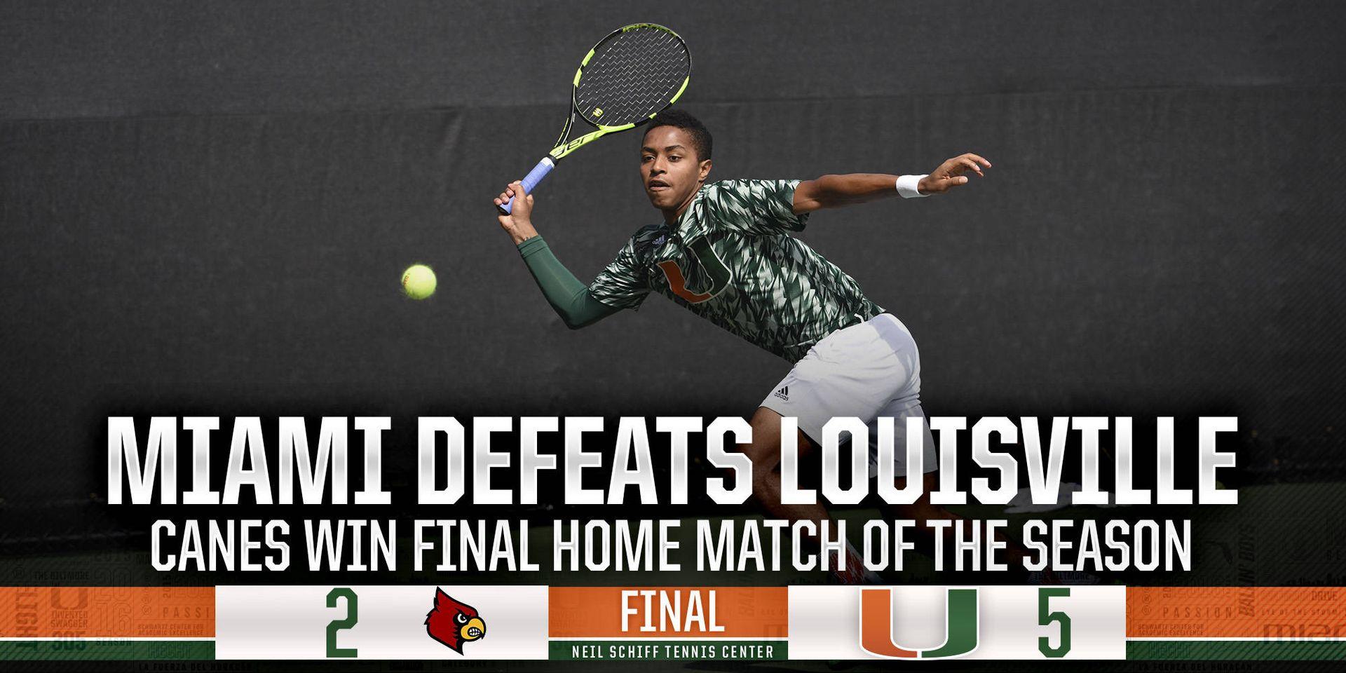 No. 75 Miami Defeats Louisville, 5-2