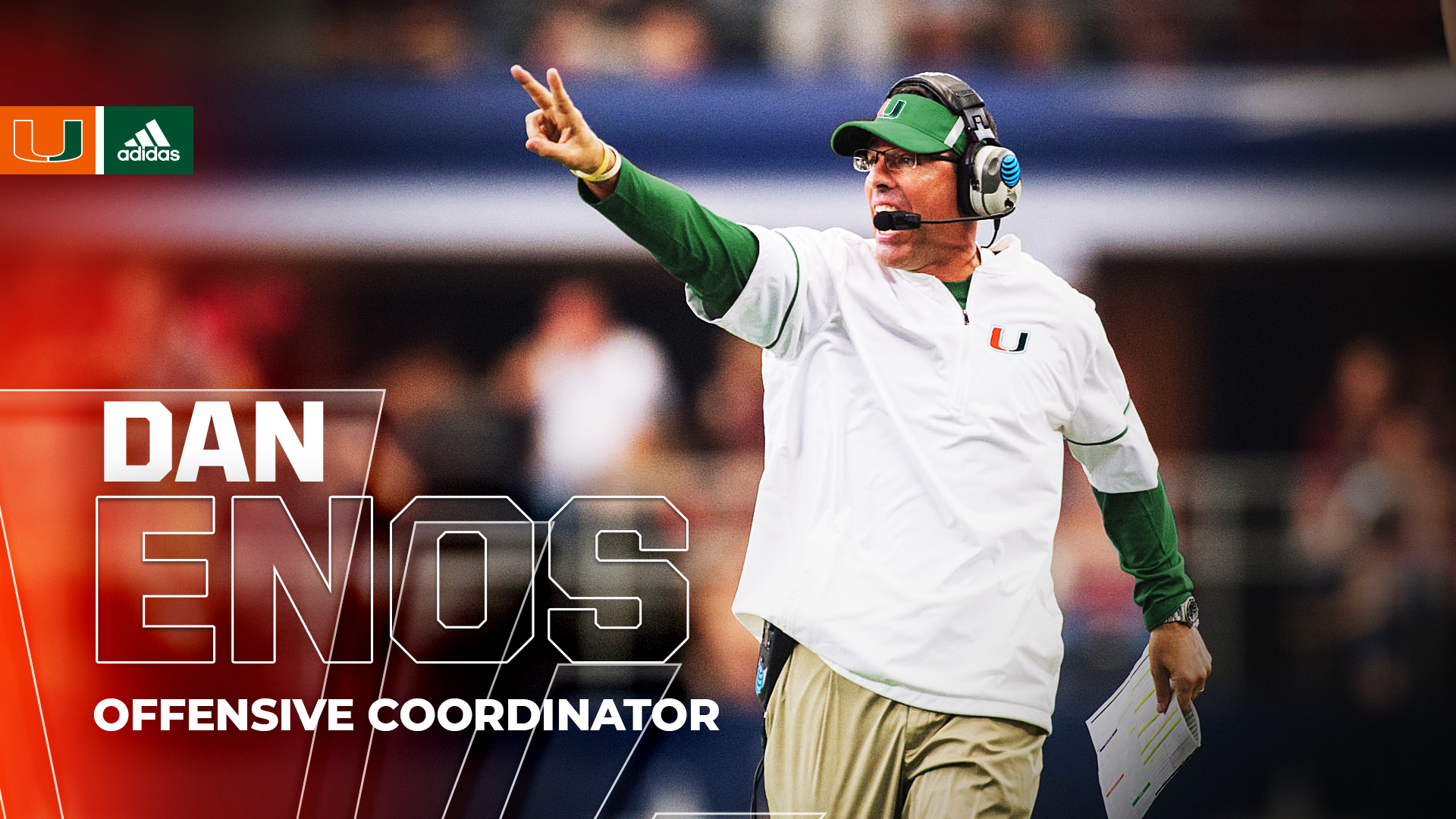 Miami Hires Enos as Offensive Coordinator/Quarterbacks Coach
