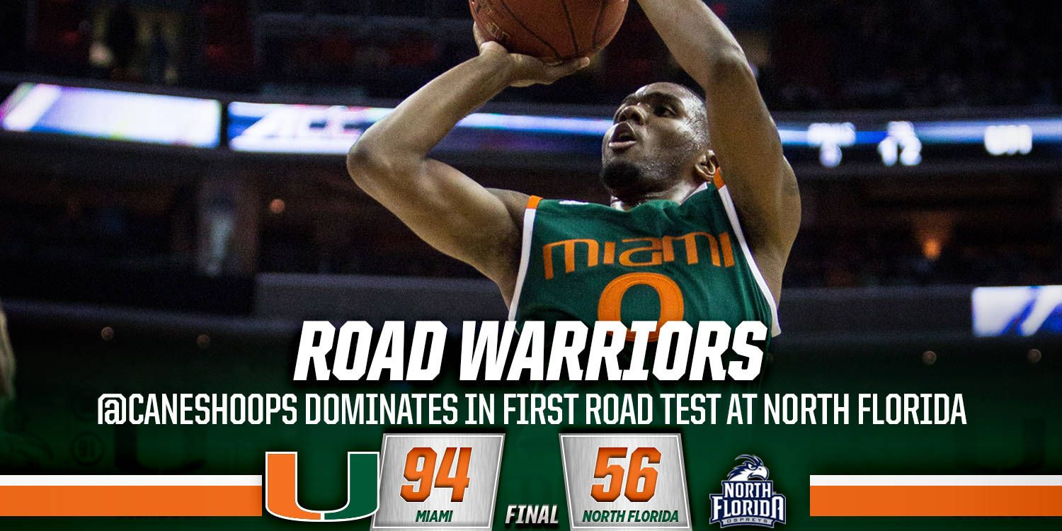 Canes Hoops Dominates in Road Test at UNF