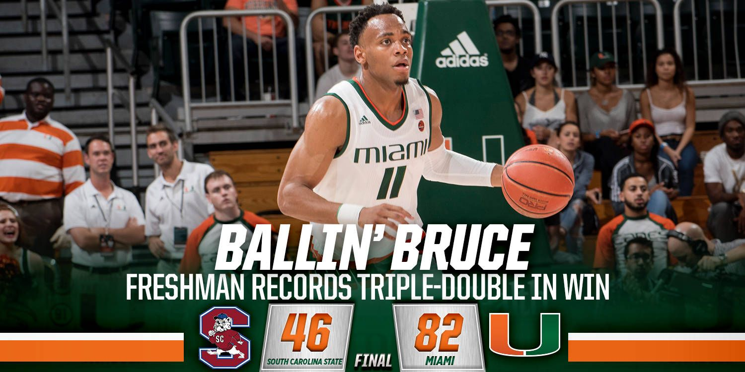 Brown Records Triple Double in 82-46 Win