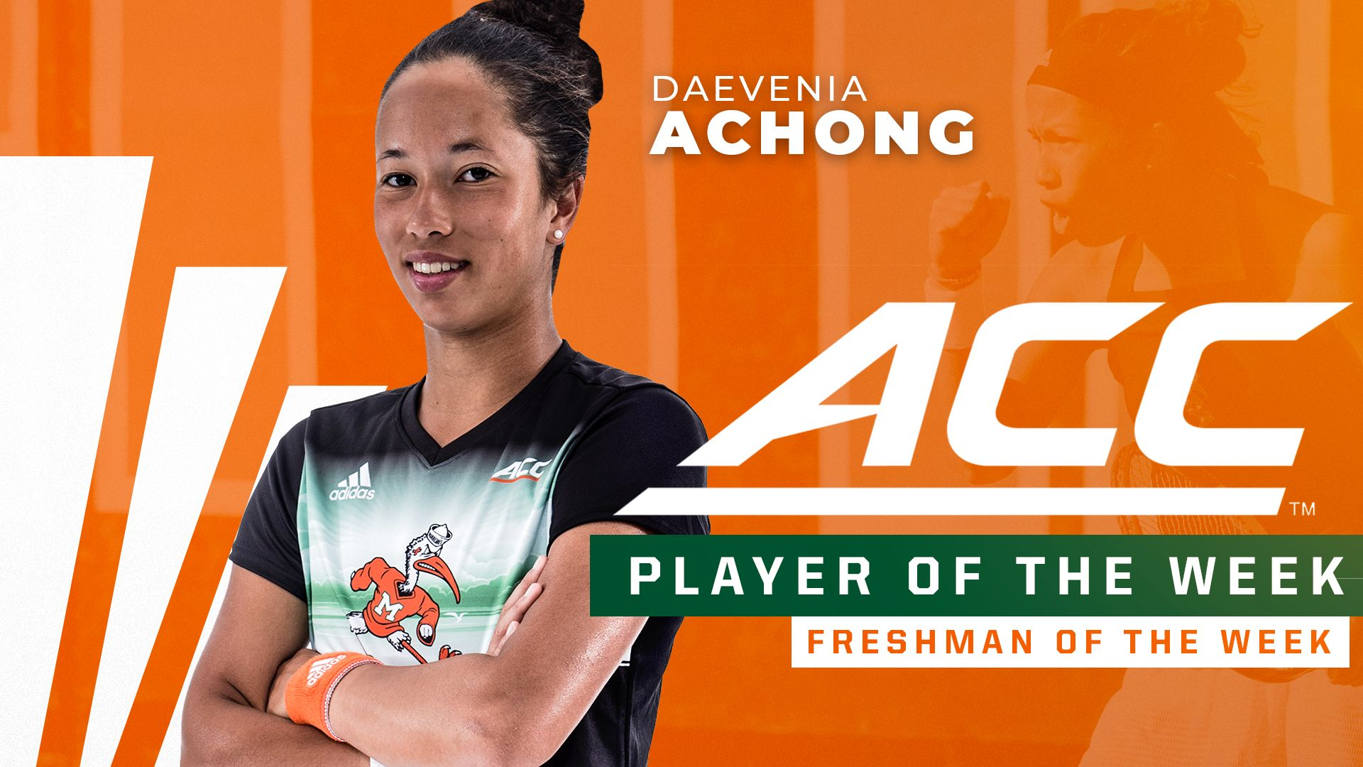 Achong Named ACC Player and Freshman of the Week
